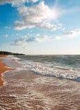 прибой моря пены Стоковая Фотография