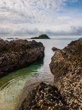 прибой моря точного золота склонения добросердечный Стоковое фото RF