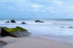 прибой моря точного золота склонения добросердечный Стоковые Фото