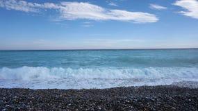 прибой моря точного золота склонения добросердечный Стоковое Фото