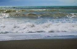 Прибой на horseshoe пляже стоковое изображение