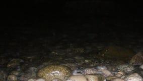 Прибой ночи на Pebble Beach сток-видео