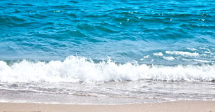 Прибой океана и белая пена Стоковая Фотография RF