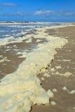 прибой пены пляжа стоковые фотографии rf