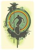 прибой радуги Стоковая Фотография