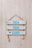 Прибой солнца моря Стоковые Фотографии RF