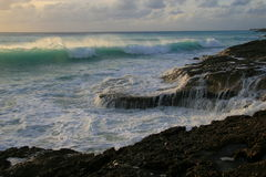 прибой caribbean пляжа Стоковое Изображение RF