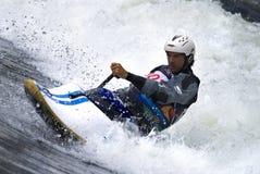 прибой kayak стоковая фотография