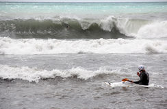 прибой recco canoa стоковая фотография rf