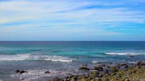 прибой tenerife океана Канарских островов сток-видео