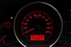 Приборная панель автомобиля пробега Стоковое фото RF