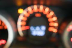 Приборная панель автомобиля крупного плана нерезкости Стоковая Фотография