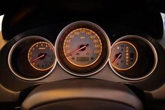 Приборная панель автомобиля крупного плана Стоковое Изображение RF