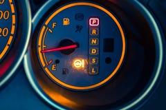 Приборная панель автомобиля крупного плана Стоковое фото RF