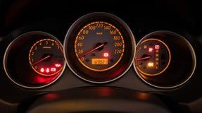 Приборная панель автомобиля крупного плана Стоковые Фотографии RF