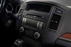 Приборная панель автомобиля с кнопками Стоковое фото RF