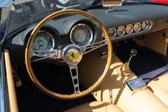 Приборная панель Феррари на дисплее Стоковое Фото