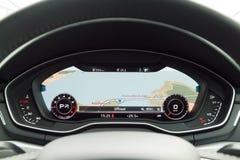 Приборная панель 2016 Audi A4 Стоковые Изображения RF