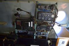 Приборы военного самолета Стоковое фото RF