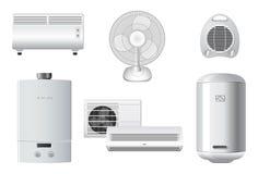 приборы воздуха подготовляя домоец топления иллюстрация вектора