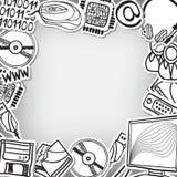 Приборы информационной технологии - предпосылка рамки Стоковое фото RF