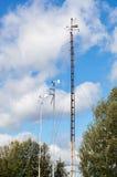 Приборы метеорологической станции, метра ветра стоковая фотография