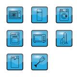 приборы самонаводят кухня стоковое изображение