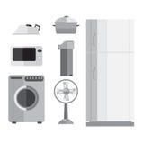 Приборы, холодильники, микроволны, вентиляторы, утюги, washi Стоковые Изображения