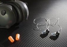 Приборы для того чтобы защитить слух стоковое изображение rf