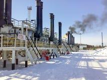 Прибор для подготовки подающего-Tritters товарного нефтепродукта, взгляда от снаружи, на открытом воздухе Стоковое Фото