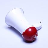Прибор диктора мегафона, белый красный цвет, отсутствие логотипа Стоковые Изображения