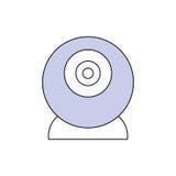 Прибор компьютера веб-камера Стоковое Изображение RF