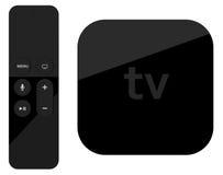 Прибор коробки игрока ТВ с удаленным беспроволочным пилотом иллюстрация вектора