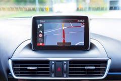 Прибор навигации в автомобиле стоковая фотография rf