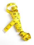 прибор предназначил ленту измерения измерения длины Стоковая Фотография