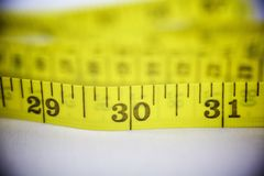 прибор предназначил ленту измерения измерения длины Стоковые Изображения RF