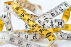 прибор предназначил ленту измерения измерения длины Стоковое Изображение RF