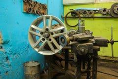 Прибор для колес ремонта Стоковая Фотография
