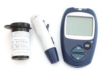 Прибор для управления уровня содержания глюкозы в крови Стоковые Изображения RF