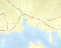 прибрежная карта иллюстрация штока