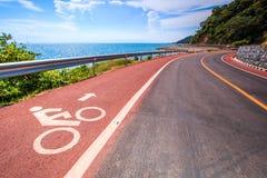Прибрежная майна дороги и велосипеда Стоковая Фотография RF