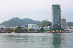 прибрежная область взгляда города Sriracha в chonburi Стоковые Фотографии RF