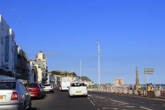 Прибрежная дорога Hastings Великобритания стоковая фотография