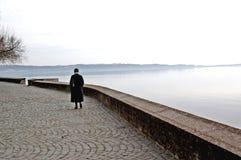 Прибрежная полоса озера Романо Trevignano Стоковые Фото