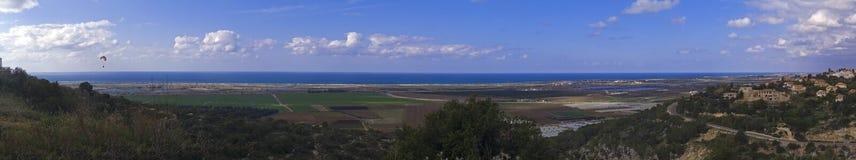 прибрежная равнина панорамы Стоковое Фото