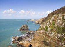 Прибрежная сцена на Sark Стоковые Фотографии RF