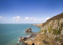 Прибрежная сцена на Sark Стоковая Фотография RF