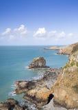Прибрежная сцена на Sark Стоковое Фото