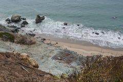 Прибрежная сцена следа скалы San Francisco Bay Стоковые Изображения RF