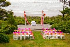 Прибрежное место свадьбы Стоковая Фотография